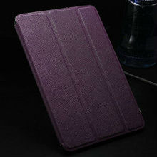 Fashion design high quality cross pattern stand flip leather case for ipad mini