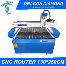Cheap 1300*2500mm 3kw Spindle Motor Cnc Router 1325 With t-Slot Table