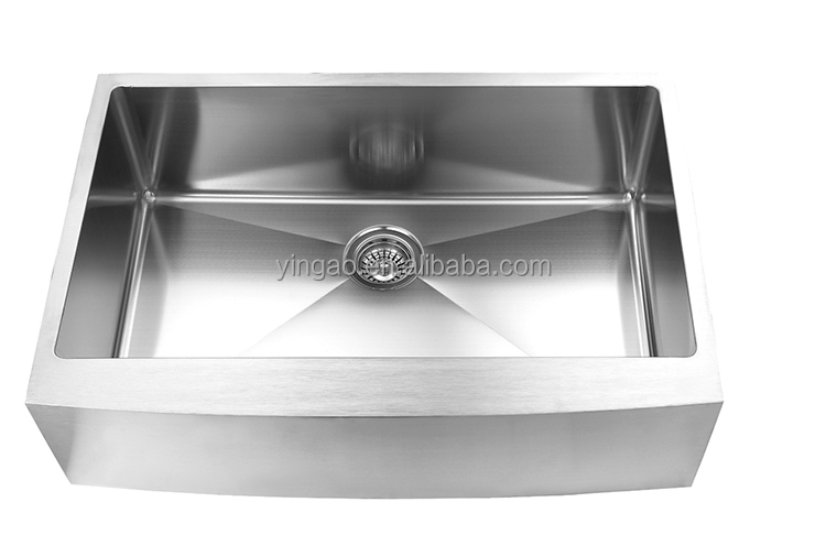 Custom size undermount double bowl 304 kitchen sinks stainless steel with drain board