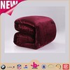 Popular royal wine red burgundy color soft throw blanket use flannel fleece tv blanket
