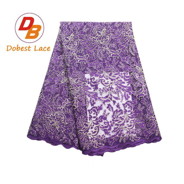 Professional hot selling french embroidered net lace fabric bridesmaid dresses with stones