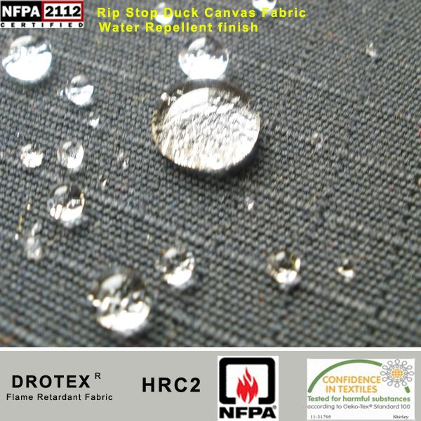 Water Repellent Tear Resistant Ripstop Flame Resistant Fabric