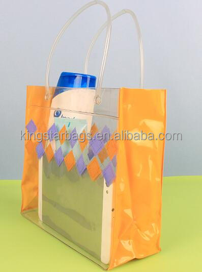 hot sale transparent cosmetic bag colorful pvc solid red wine bags