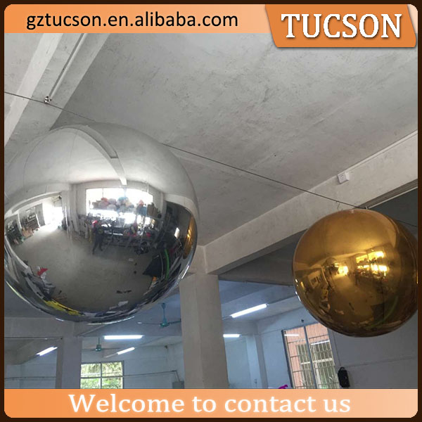 Hanging inflatable gold/silver mirror ball decoration ball for event