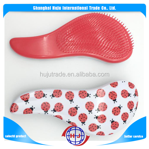 Promotion colorful hair comb custom plastic hair brush manufacturers
