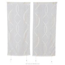 polyester cotton beige jacquard curtains design for small manual window