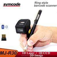 Finger Barcode Scanner 1D Bluetooth Wearable Ring-style Mini Portable Finger Barcode Scanner Barcode Reader