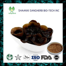 New brand 2017 bulk black fungus extract with best price /black wood ear extract powder on hot selling