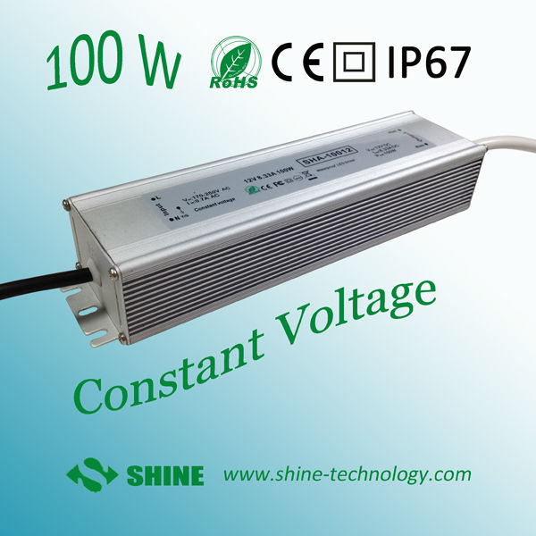 24v dc power supply 12v ip67 single output led power driver 100w ac170-240v