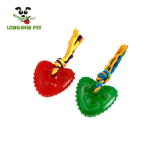 TPR Transparent Funny Toy with Cotton Rope Tug Dogs Interactive Play with Pets