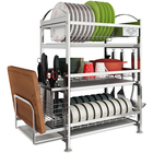 Chopping block frame  storage shelf rack  kitchen storage rack stainless steel kitchen  Dish rack