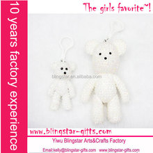 Fashion rhinestone bear keychain, crystal bear chain,diamond bear, jeweled bear keychain