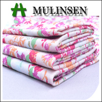 Mulinsen Textile Custom Design High Quality Plain Woven Combed 40S Poplin Rose Print Cotton Fabric