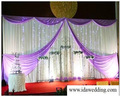 event decorative embroidery organza backdrop curtains for wedding hall