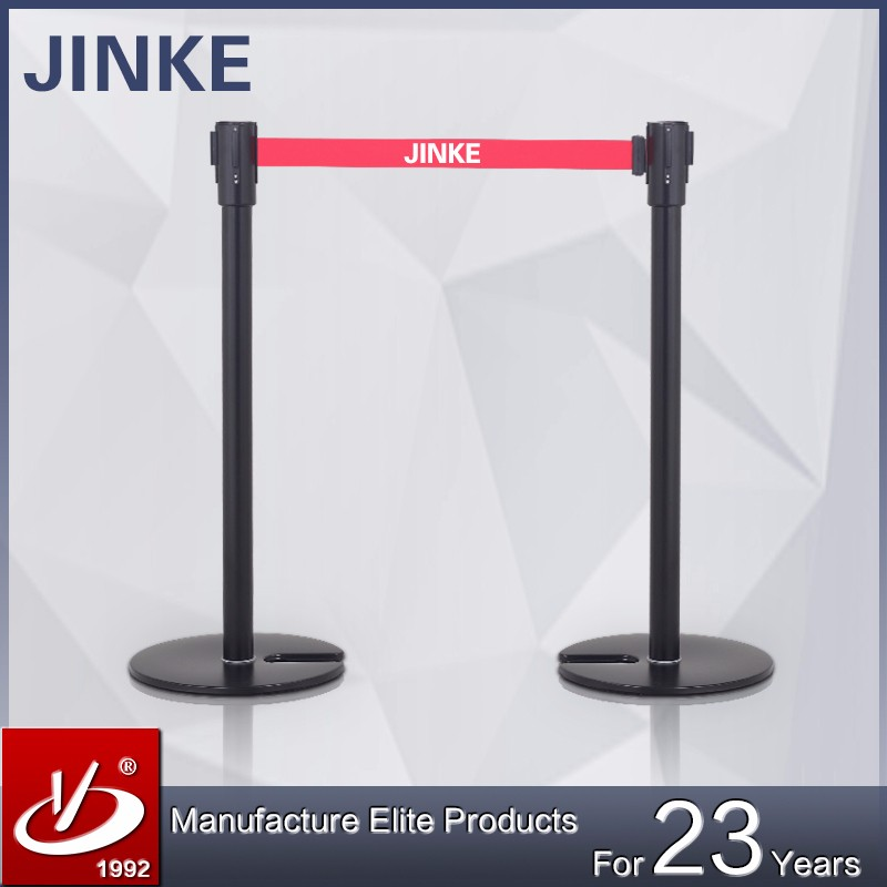 Black <strong>U</strong>--shaped Crowd Control Stanchion Pipe Barrier