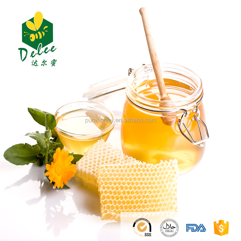 Natural pure wild flower honey for food