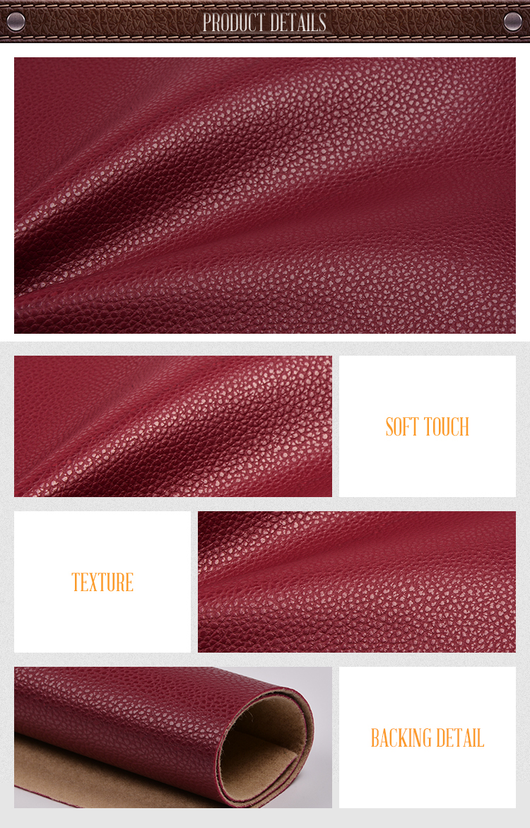 Embossed Fabric Faux Pu Synthetic Leather For Furniture Sofa