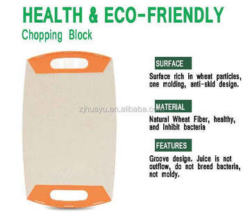 High quality 100% Econ-friendly Material Vegetable Fruit Plastic Cutting Board Manufacturer