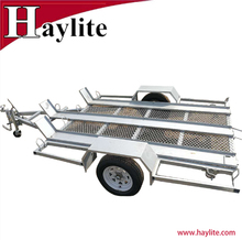 Factory direct sales high quality steel 3 motor bike trailer used for quad or bike