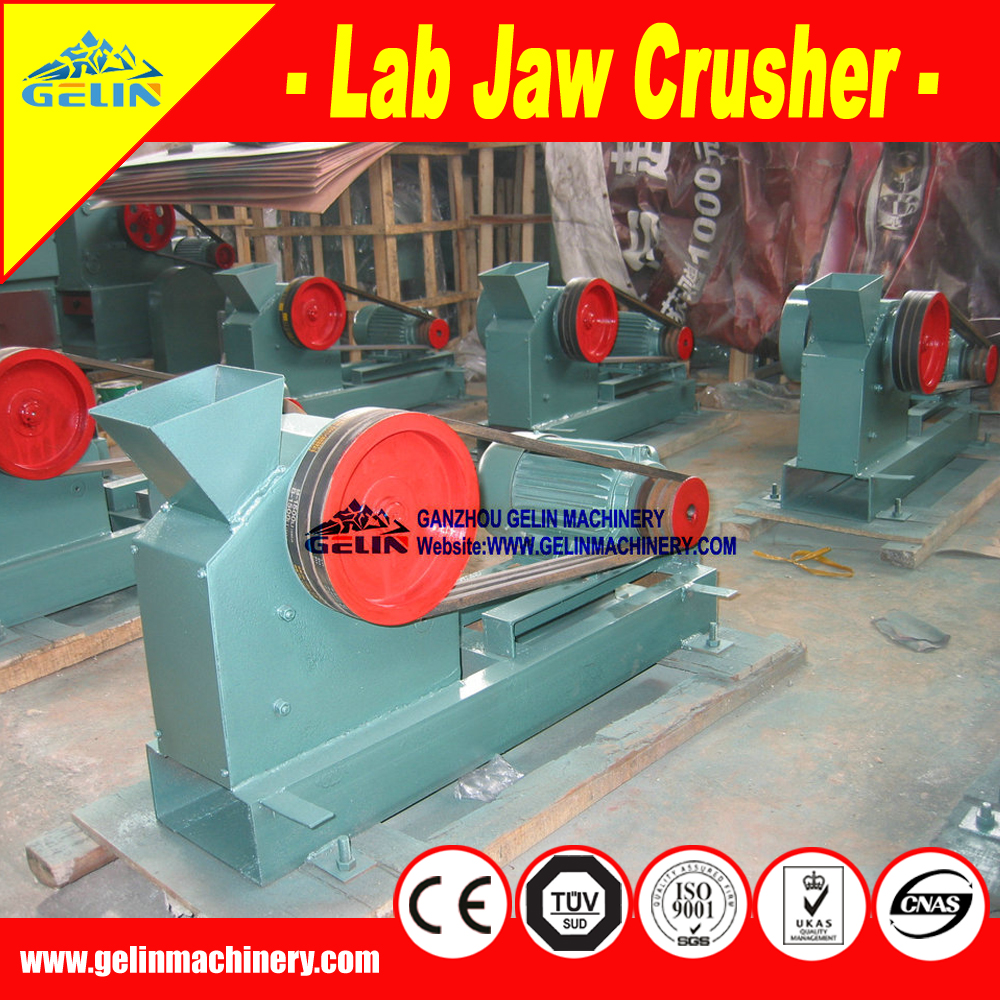 Jaw crusher for laboratory /Lab Rock Breaker for zinc ore