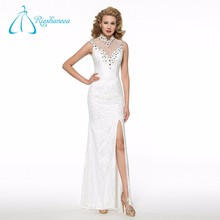Lace Appliques Sequined Mother Of The Bride Beach Wedding Dress