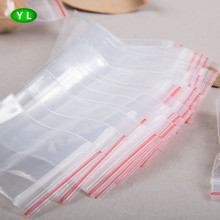 2016 hot sale PE zip lock clear plastic food packaging bag LDPE packing bag for snacks