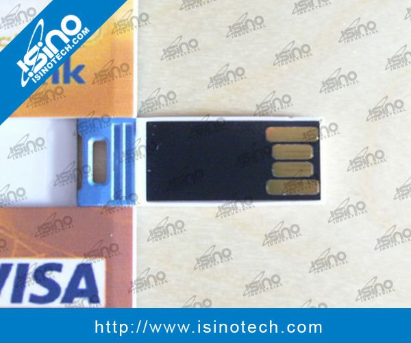 Ultra Slim Credit Card Shape USB Drive with Full Color Printing