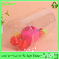 Professional factory custom clear plastic cylinder tube with lid