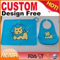 RENJIA custom printed placemats baby place mat dinner table mats silicone placemat