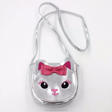 Fashion cute PU canvas crossbody kids bag children mini purse wallet handbag