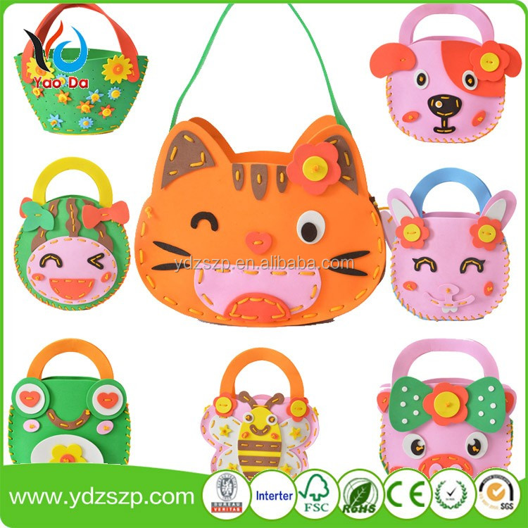 Cartoon monkey DIY EVA material bag