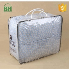 Wholesale China Merchandise Custom Print Clear PVC Plastic Zipper Packaging Quilt Blanket Cover Bag From China