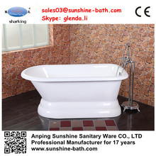 Freestanding soaking bathtub small with seat