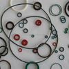 brown, black, red, green o rings rubber small o rings