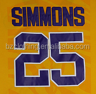 LSU Simmons #25 Yellow College Basketball Jerseys