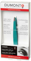 PROFESSIONAL COSMETIC EYEBROW GREEN SLANTED TWEEZERS