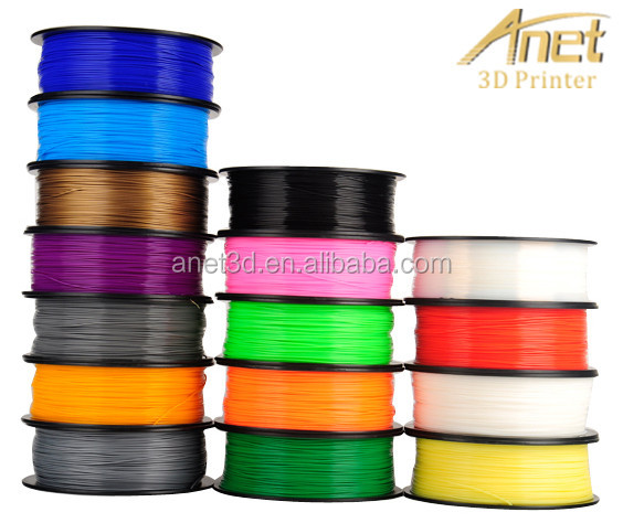 PLA ABS 3D Printer Filament Anet A8 Available customized color 1.75mm 1kg PLA filaments