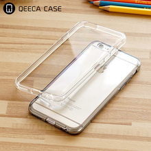 Multicolor soft TPU transparent crystal clear back cover phone case for iphone 5 6 6s