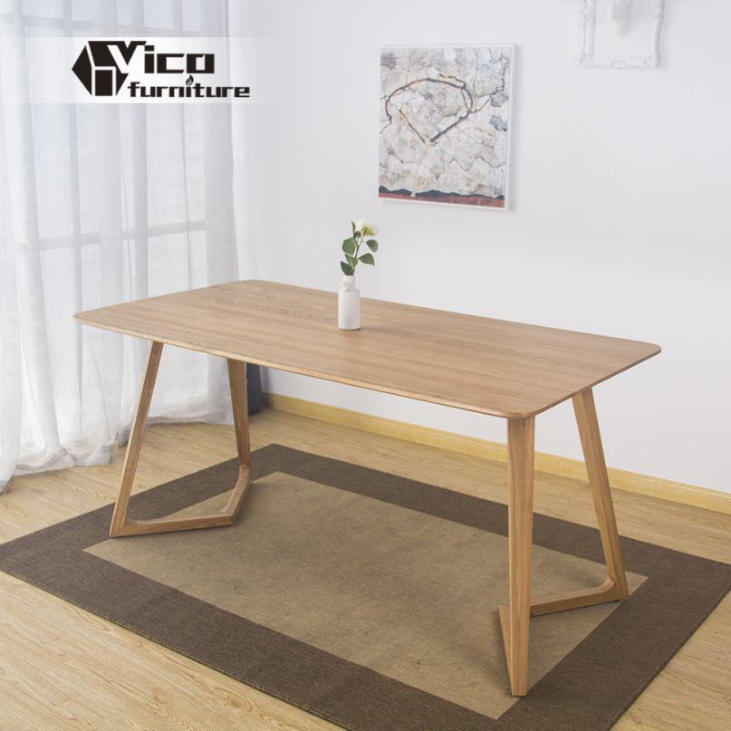 manufacturer solid wood material popular classic design cheap wood table and chairs