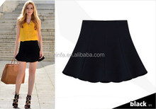 New style classical pure color short skirts for girls