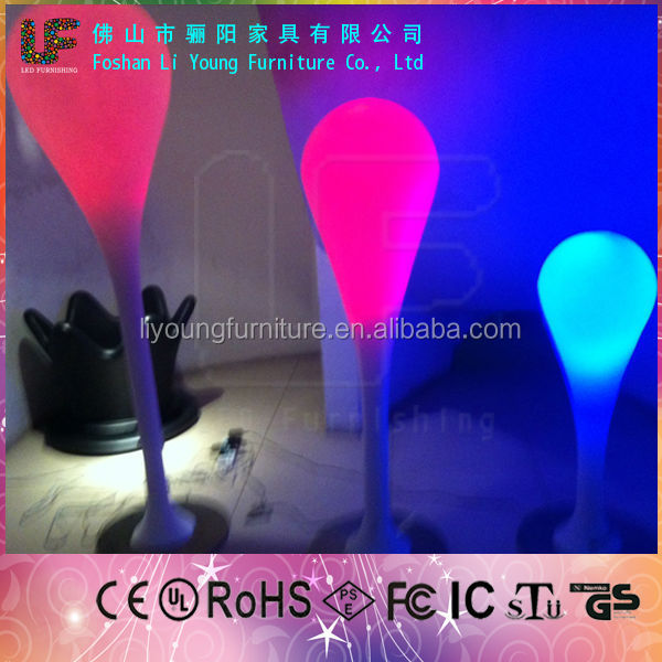 RGB outdoor indoor decration waterproof hotel night bar garden patio used Rechargeable Battery LED Floor Lamp