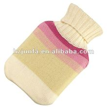 fashion 2012 pretty best selling acrylic jacquard cute knitted hot water bottle bag