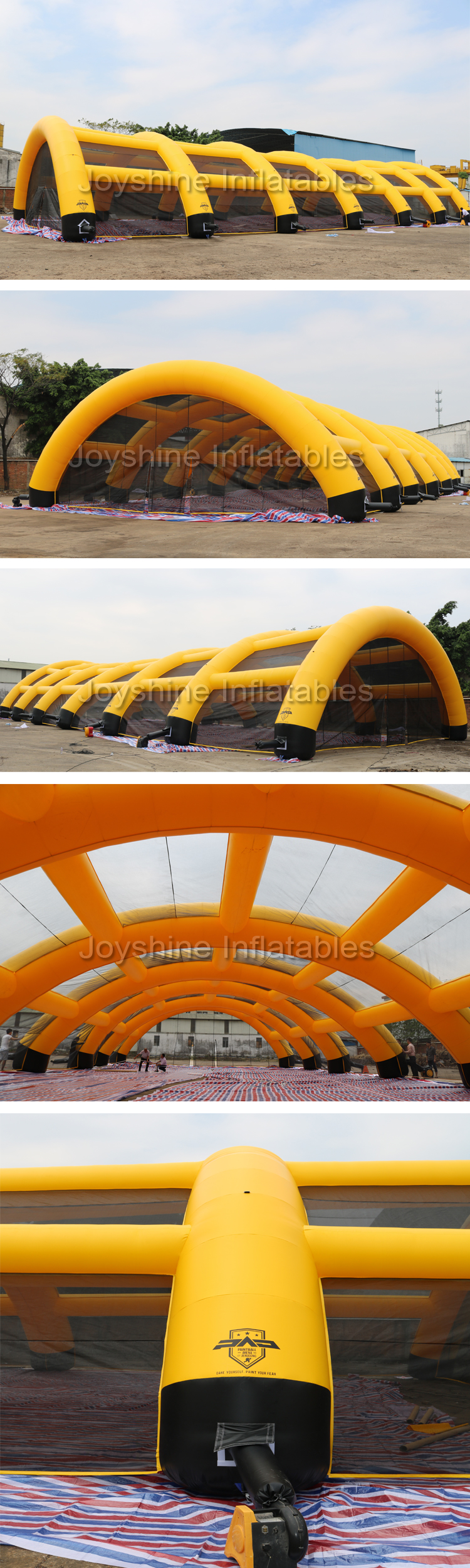 Outdoor Inflatable Arena Paintball Field Arena Tent For Sports