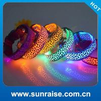 Cheap Wholesale clear discount led dog clothes home pet collar