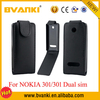Factory Wholesale Price Phone Leather Case For Nokia 301Case,Slim Leather Flip Case For Nokia 301 Cell Phone Cover PU Flip Case