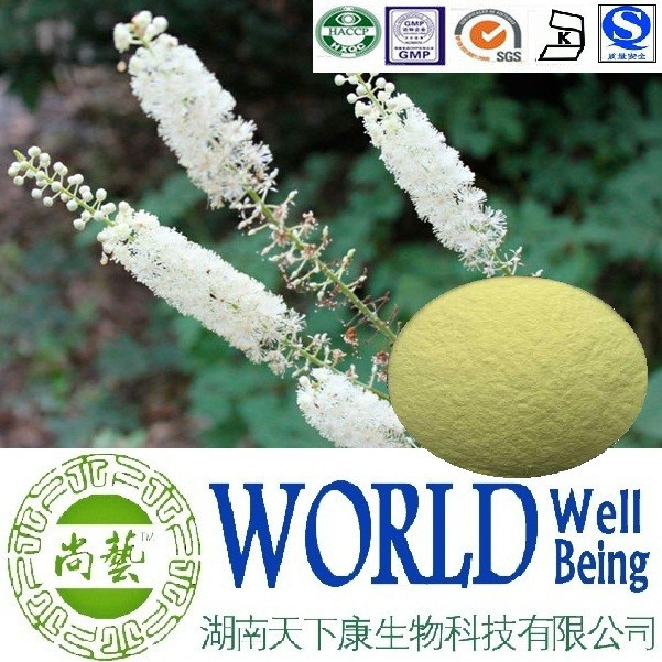 Hot sale Black cohosh extract/Triterpene 8%/Cimicifuga racemosa extract/Food additive plant extract