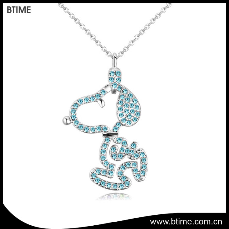 Btime cute happy dog pendant neckalce latest hot sale jewelry necklace