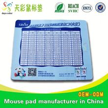 Computer Accessories For Sublimation Print Customised Mouse Pad 2014