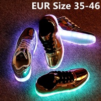 kid`s FASHION pu upper material and rubber outsole material led shoes