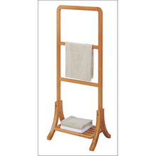 New products bamboo single standing bathroom towel rack / towel stand